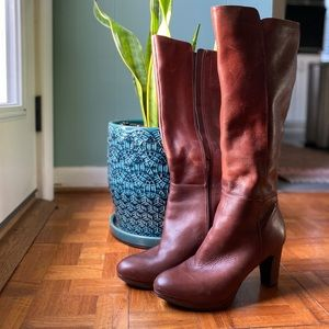 Nine West Padillao tall Cognac boots. Size 7.5